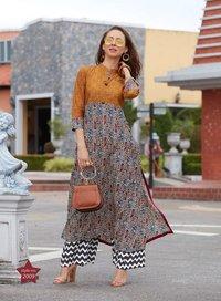 Fashion studio vol 2 kajal style cotton rayon long kurtis 2001-2016