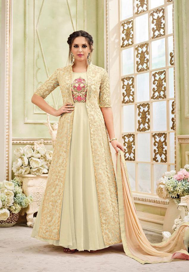 sajawat pink jacket style salwar suit partywear colleciton 33091
