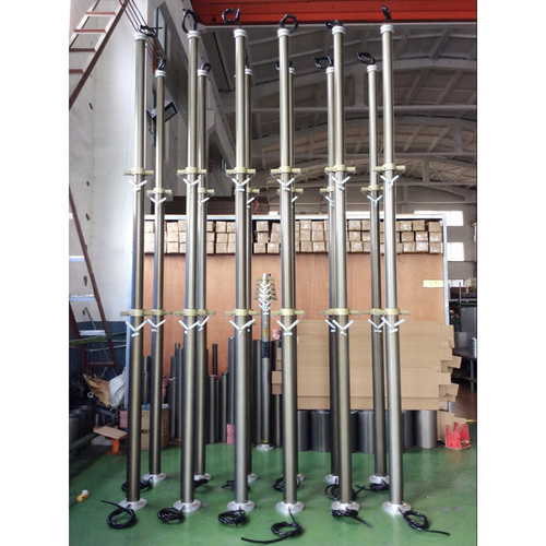 4.5m lockable CCTV pneumatic telescopic mast
