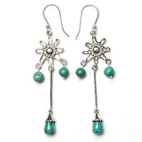 925 Sterling Silver Turquoise Dangle Earring