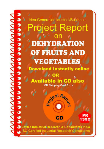 Dehydration of Fruits and Vegetables Project report eBook