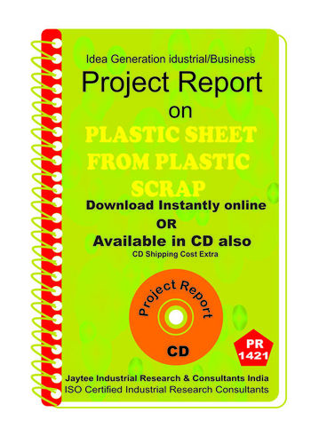 Plastic Sheet from Plastic Scrap manufacturing eBook