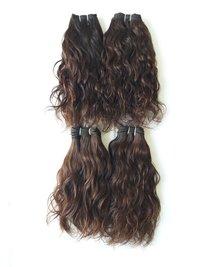 Raw Temple Wavy Hair, Natural Color