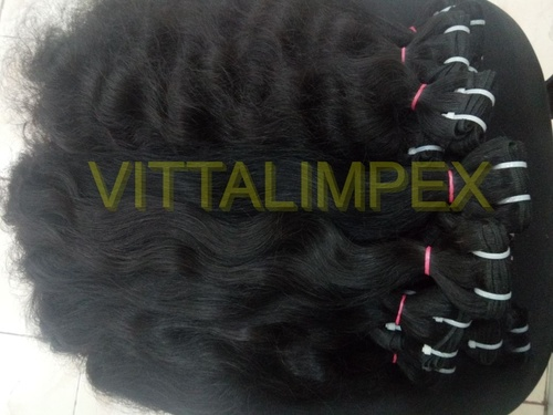 Machine weft body wavy hair