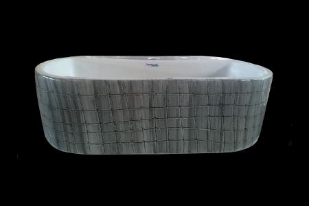 Wooden Finish Ceramic Wash Basin