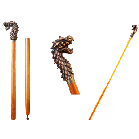 Dragon Head Handle Walking Cane
