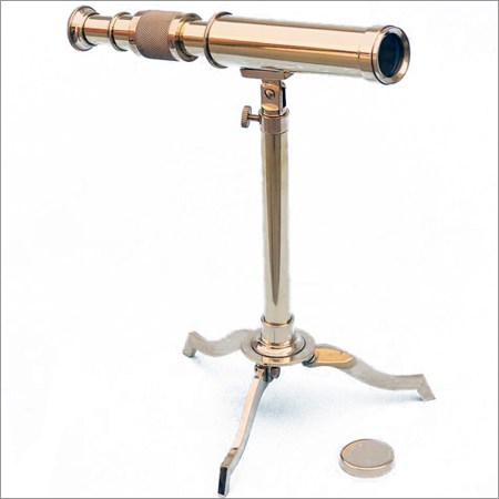 10inch Nautical Brass Telescope on Stand