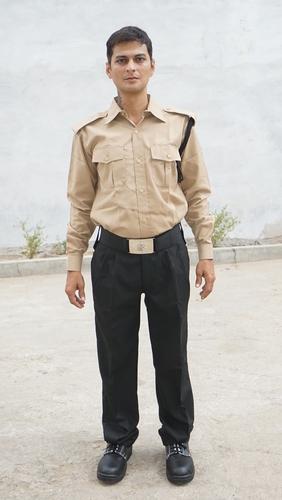 Biscuit Colour Security Guard Uniform