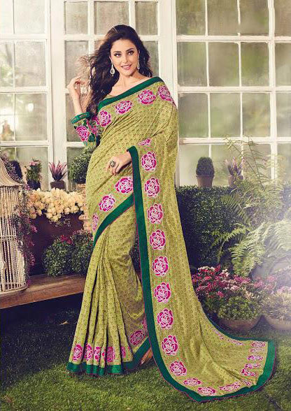 Sethnic crepe sarees 8671-8685 printed collection woth heavy border blouse