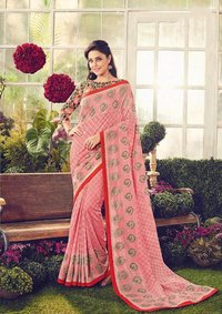 Sethnic ccrepe sarees 8671-8685 printed collection woth heavy border blouse