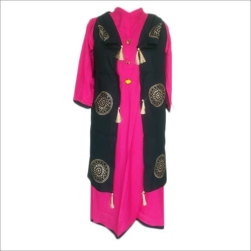 Ladies Gold Print Kurti