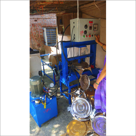 Hydraulic double die paper plate machine with panel