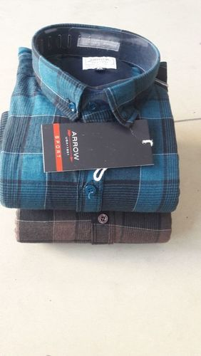 Mens Cotton Double Check Shirt