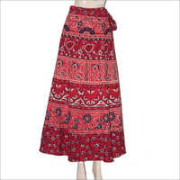 Ladies Printed Wrap Skirt