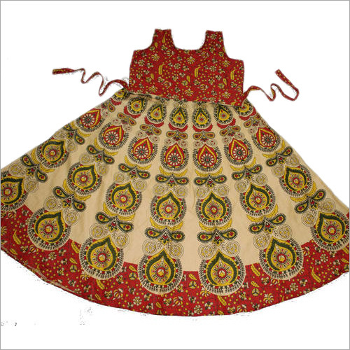 Ladies Rajasthani Print Long Dress
