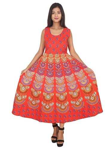 Rajasthani Printed Cotton Maxi Dress
