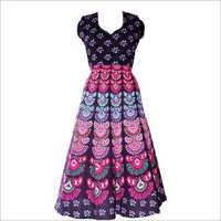 Ladies Bright Colour Long Dress