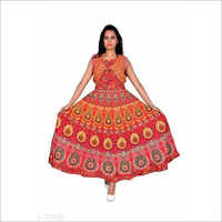 Jaipuri Printed Jacket Dress