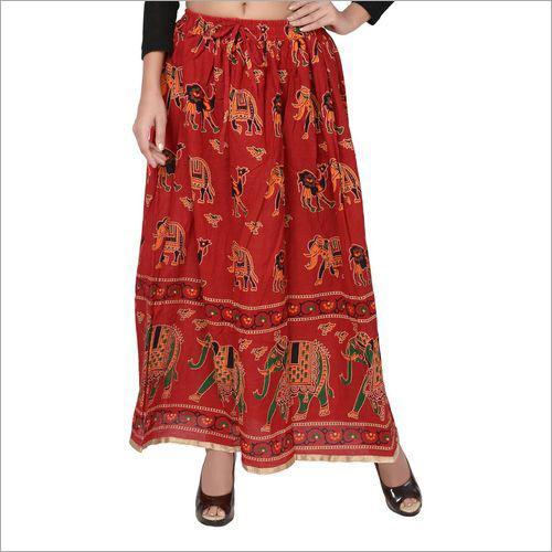 Ladies Rajasthani Printed Skirt