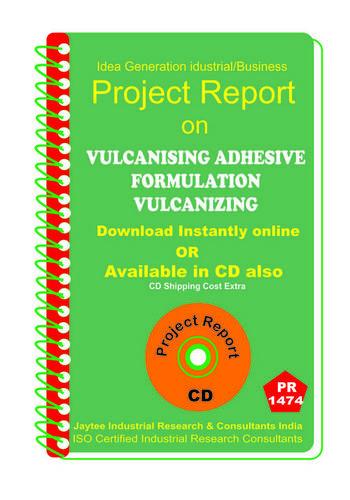 Vulcanising Adhesive Formulation Vulcanizing eBook