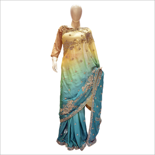 Ladies Double Shaded Saree