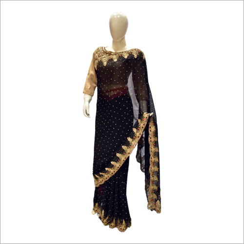 Ladies Black Party Wear Saree