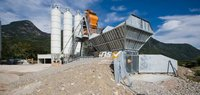 Compact concrete batching plants