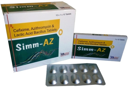 Cefixime 200mg Azithromycin 250mg Lactic Acid Bacillus 60ms