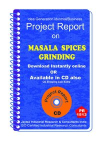 Masala Spices Grinding manufacturing Project Report eBook