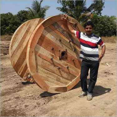 Large Wooden Cable Drum
