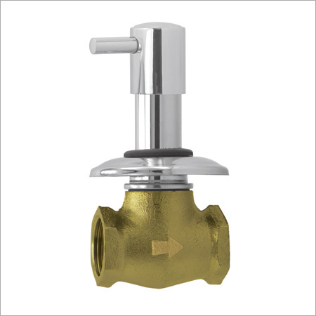 Flush Cock Heavy Body with Wall Flange