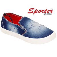 Sporter Men/Boys Denim Blue Funky-3 Loafer & Moccasin