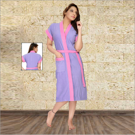 Ladies Designer Knitted Bathrobe