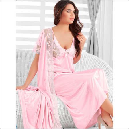 Satin Nighty & Robe Set (2pc)