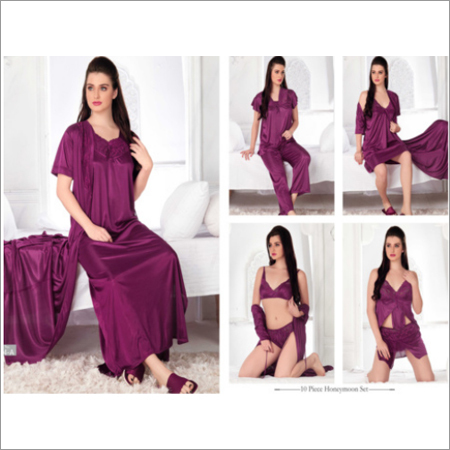 Magenta 10pc Nightwear Set