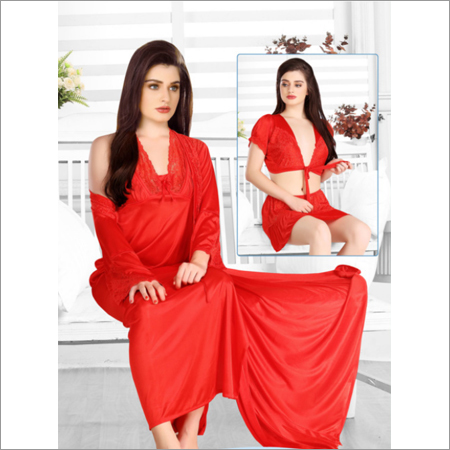 Red 4pc Nightwear Set