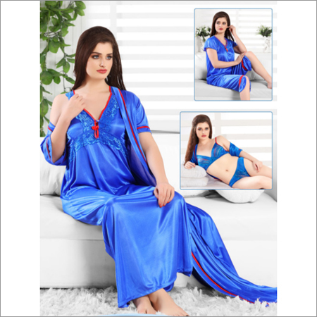 6pc Blue Nightwear Set