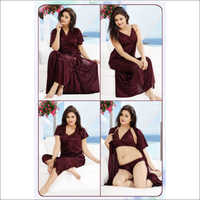 Magenta 6pc Nightwear Set