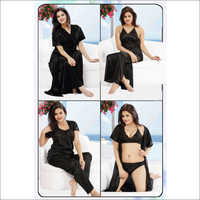 Black 6pc Nightwear Set