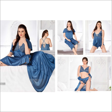 Blue 9pc Nightwear Set