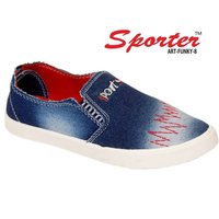 Sporter Men/Boys Denim Blue Funky-8 Loafers & Moccasins