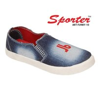 Sporter Men/Boys Denim Blue Funky-10 Loafers & Moccasins