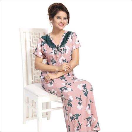 Floral Designer Print Rayon Nighty