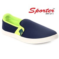 Sporter Men/Boys Canvas Blue FL-1 Loafers & Moccasins