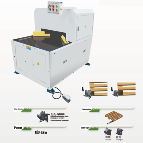 Wood Pallet Round Corner Cutting Machine