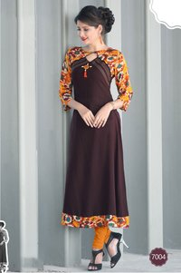 sethnic 7002 printed rayon kurta stylish wear for women