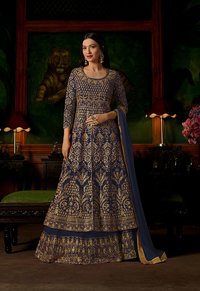 sethnic suits wholesaler in surat georgette salwar kameez heavy work