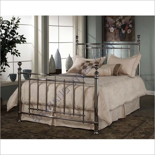 SS Decorative Double Bed