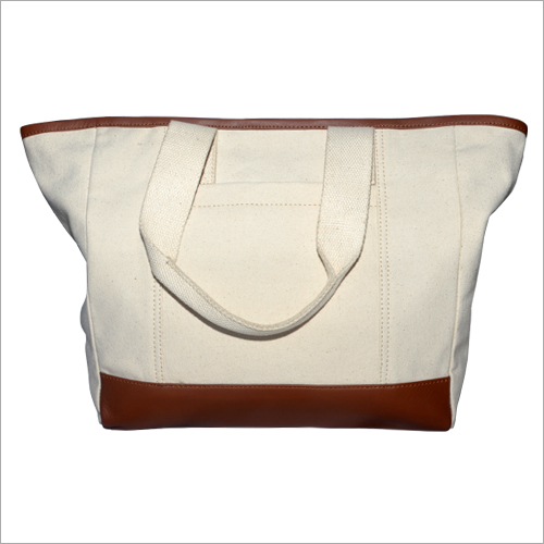 Ladies Canvas  Plain Handbag