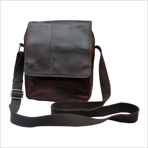 Mens Brown Sling Bag
